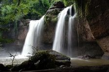 Haeo Suwat waterfall in Khao Yai national park