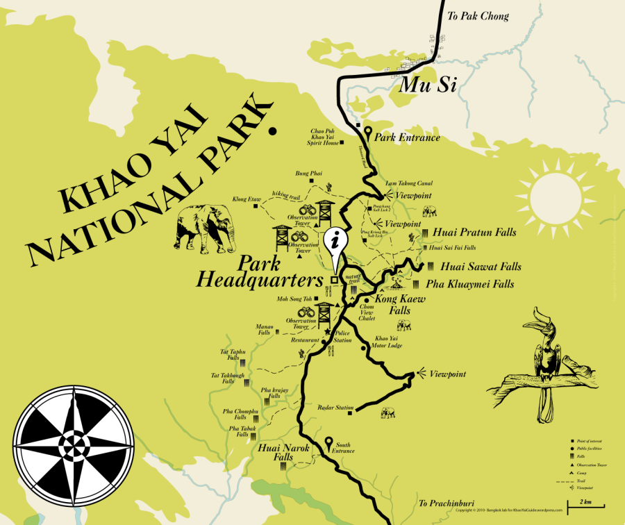 Orientation map of Kao Yai national Park, Pak Chong