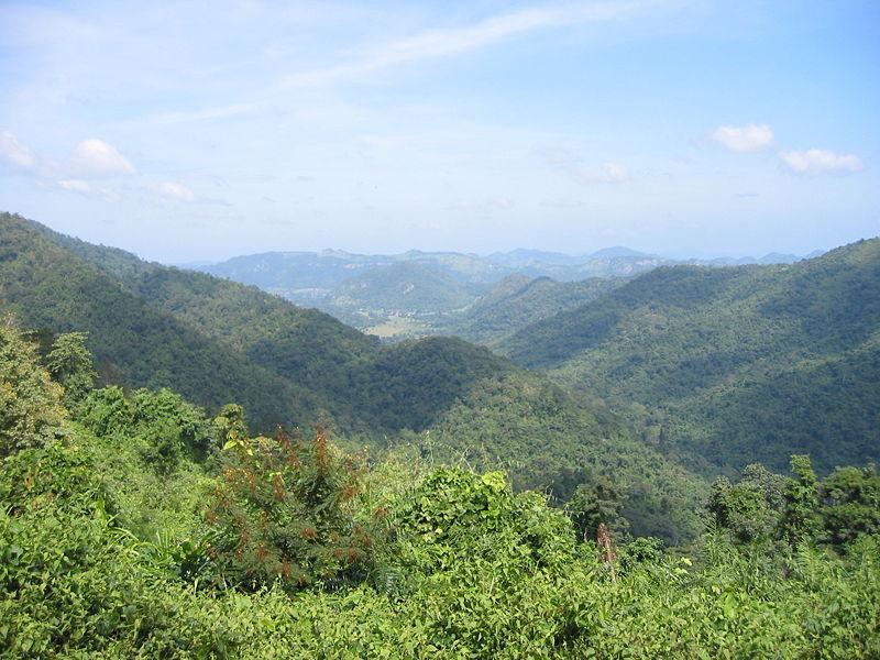 Landscape from viewpoint in Khao Yai