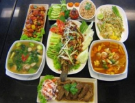 Dining at Krua Cha Pang, Korat restaurant