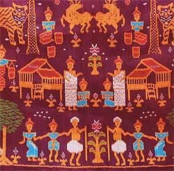 silk weaving in Korat
