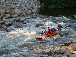 river rafting in south Khao Yai
